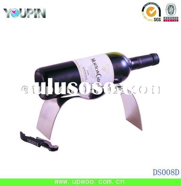 2012 hot sale simple mirror polished stainless steel wine bottle rack