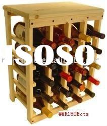 20 Bottle table Wine bottle Rack,made of pine,floor stand wooden wine rack