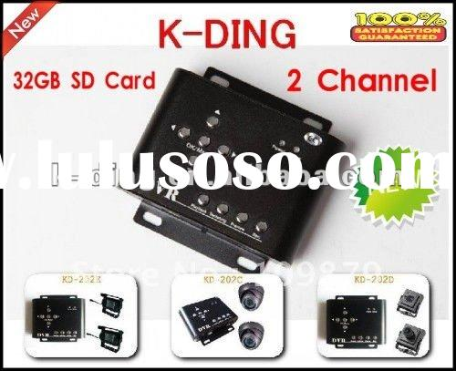 2 channel cctv dvr for car taxi use/car security system/ mobile dvr for car,truck