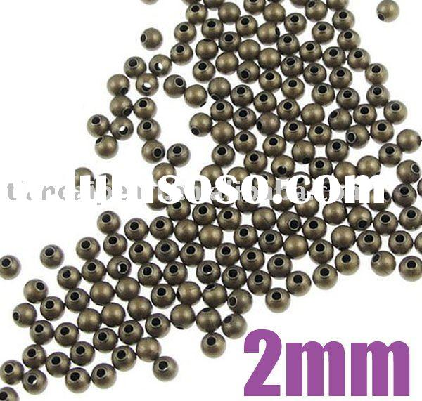 2mm Anitque Brass Bronze Metal Smooth Round Spacer Beads Jewelry Findings Jewelry Accessories Jewelr