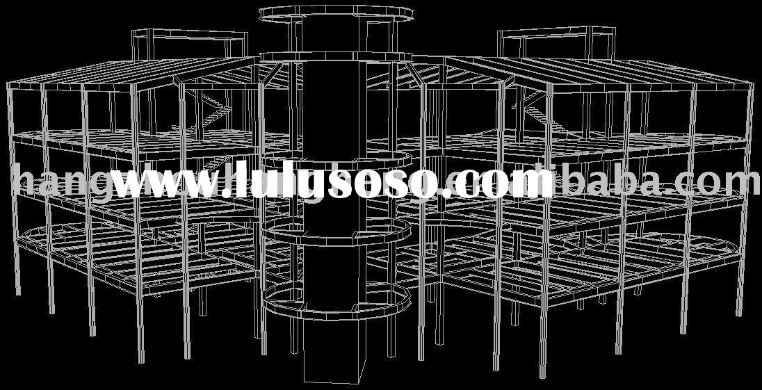 3D Drawing for Steel Structure Building Construction