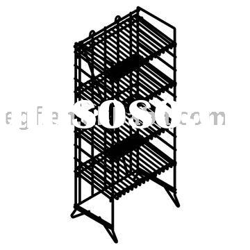 4 Tier Collapsible Metal Bakery Display Stand with Sign Holder