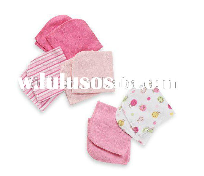 80%cotton 20% polyester Baby towel and wash cloths