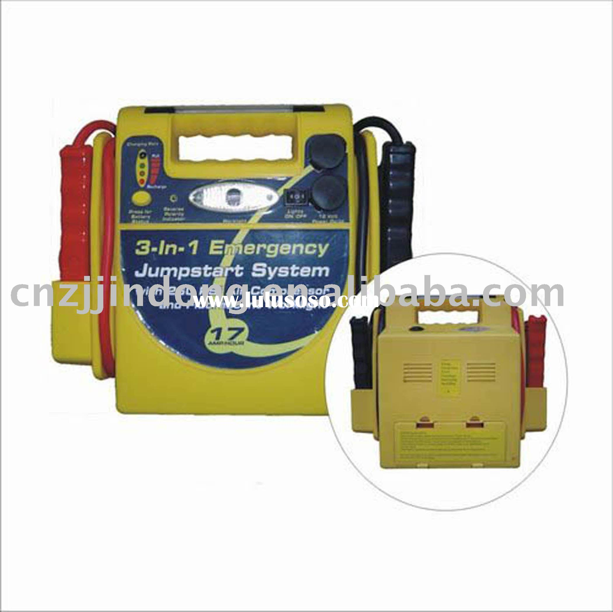 Auto Car Battery Power rechargeable Jumpstart with air compressor