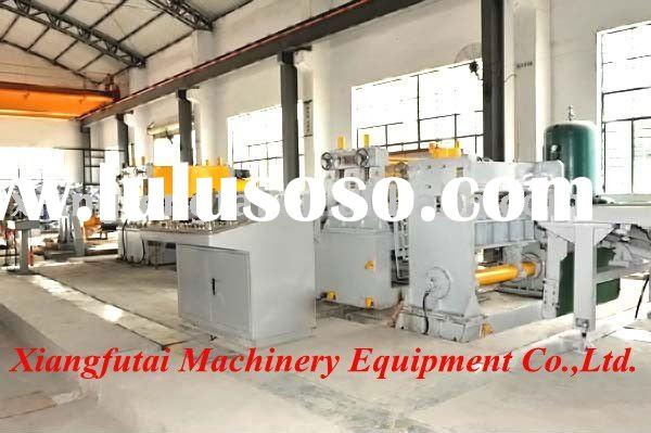 Automatic metal leveling and cross cutting machine unit