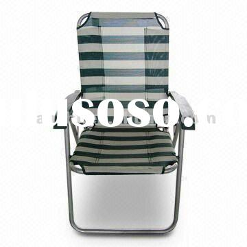 Beach/Outdoor Folding Chair, Canvas Fabric with Iron Tube