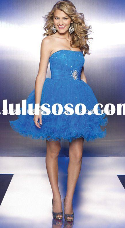 C0221 Strapless Short Prom Dress 2011 New style