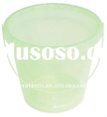 Clear plastic bucket kids with handle