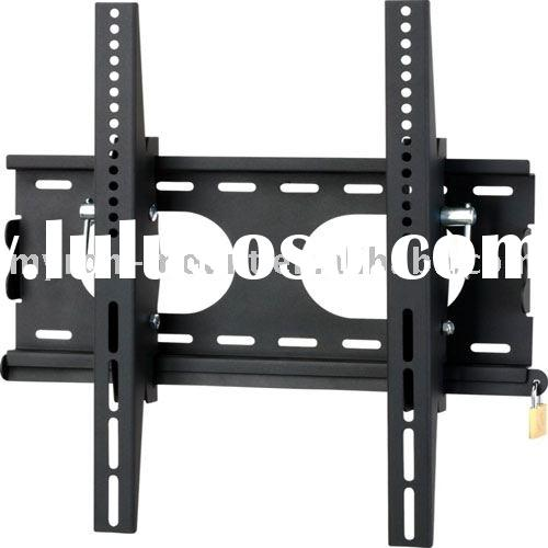 Cold roll sheet Tilting TV stand wall bracket with security lock