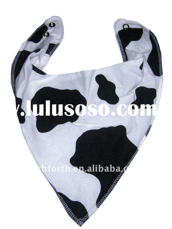 Cotton Bandana baby Bibs with Cow Design