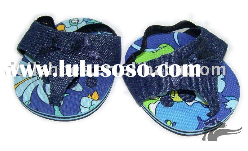 Cute blue teddy bear toy shoes in doll collections