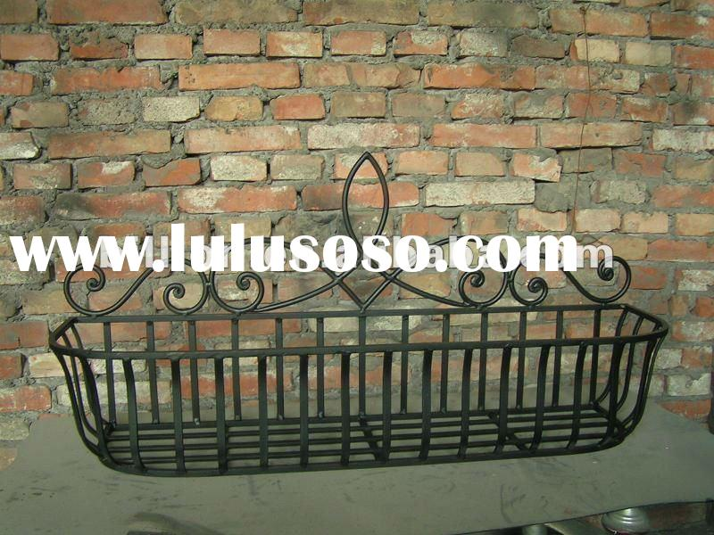 Decorative wrought iron flower pot stand metal flower stand for garden decorative flower stand shelf