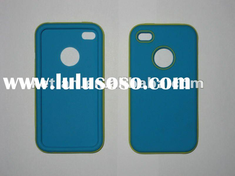 Dual color silicon case for iPhone 4/S