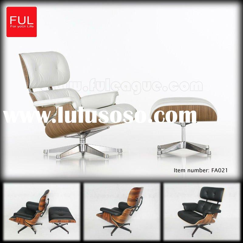 Eames lounge chair ITALIAN LEATHER HIGH DENSITY FOAM PRECISION CASTING ALUMINUM PAINTED BLACK LACQUE