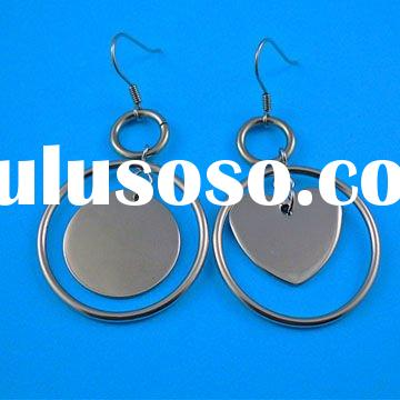 Fashion & hot selling 316l stainless steel magnetic earring findings