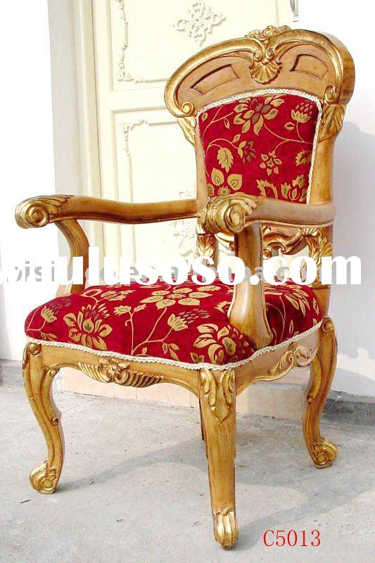 French& American style classical Hand carving wooden arm chairs,living room chairs