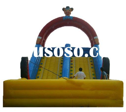 Funny giant inflatable floating water slide