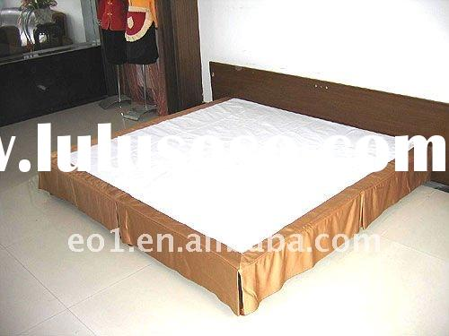 Hotel king size fitted bed skirt