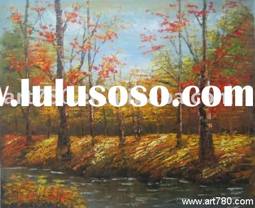 Landscape painting,glass painting design,oil painting on canvas