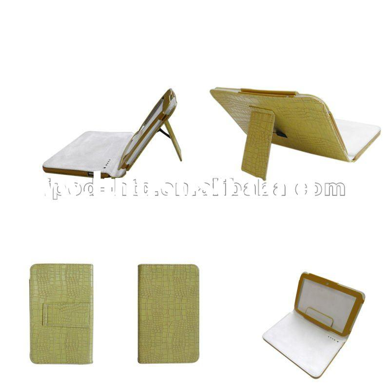 Leather Case Cover Stand pouch Magnetic Closure for 7 inch Android tablet PC Green