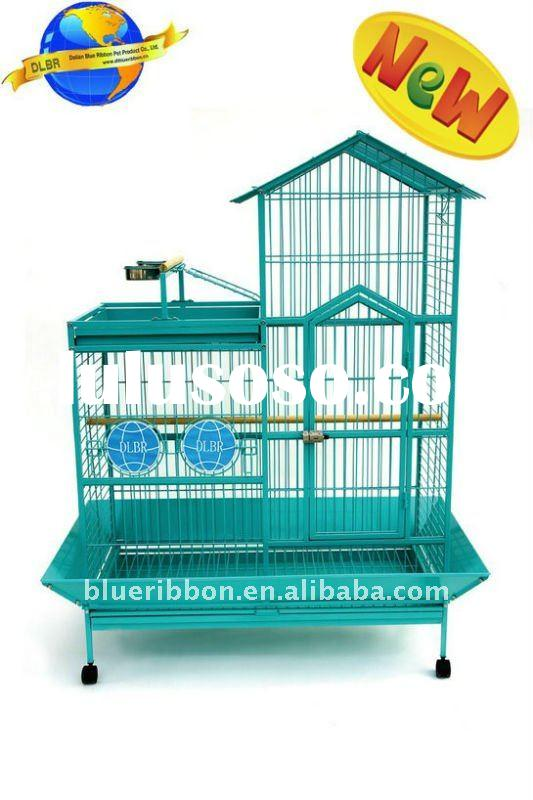 Metal Parrot Cage or Large Aviary with Patent Designs
