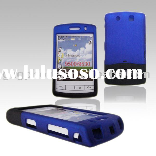 Mobile Phone cover:Dual Color Rubberized Case for Blackberry 9500/9530
