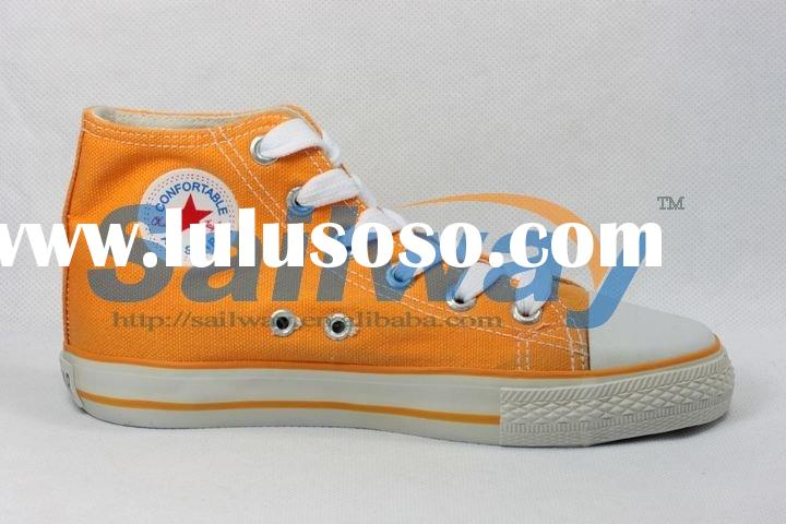 New High Top Canvas Sneakers Women Shoes All Sizes All-star Orange
