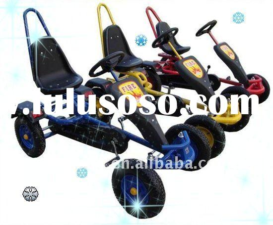New children pedal go cart,with reverse gear,adjustable seat and steering wheels F150A