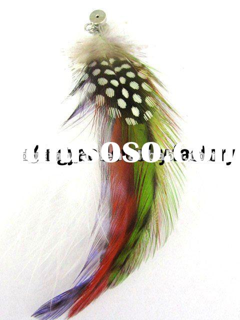 New design colorful long feather earrings