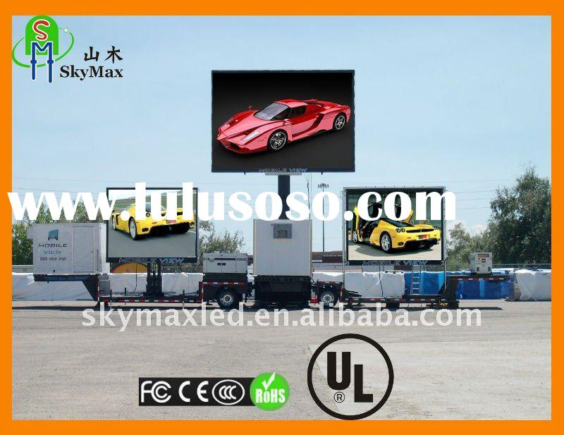 Outdoor full color truck mobile led car display