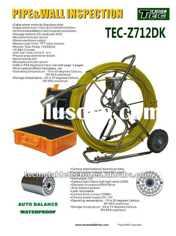 Professional Underwater CCTV Camera/ Sewer Pipeline Inspection Camera, Big Pine TEC-Z712DN with DVR