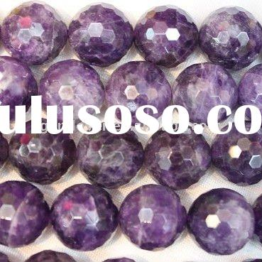Purple Quartz Faceted Round Gemstone beads Jewelry