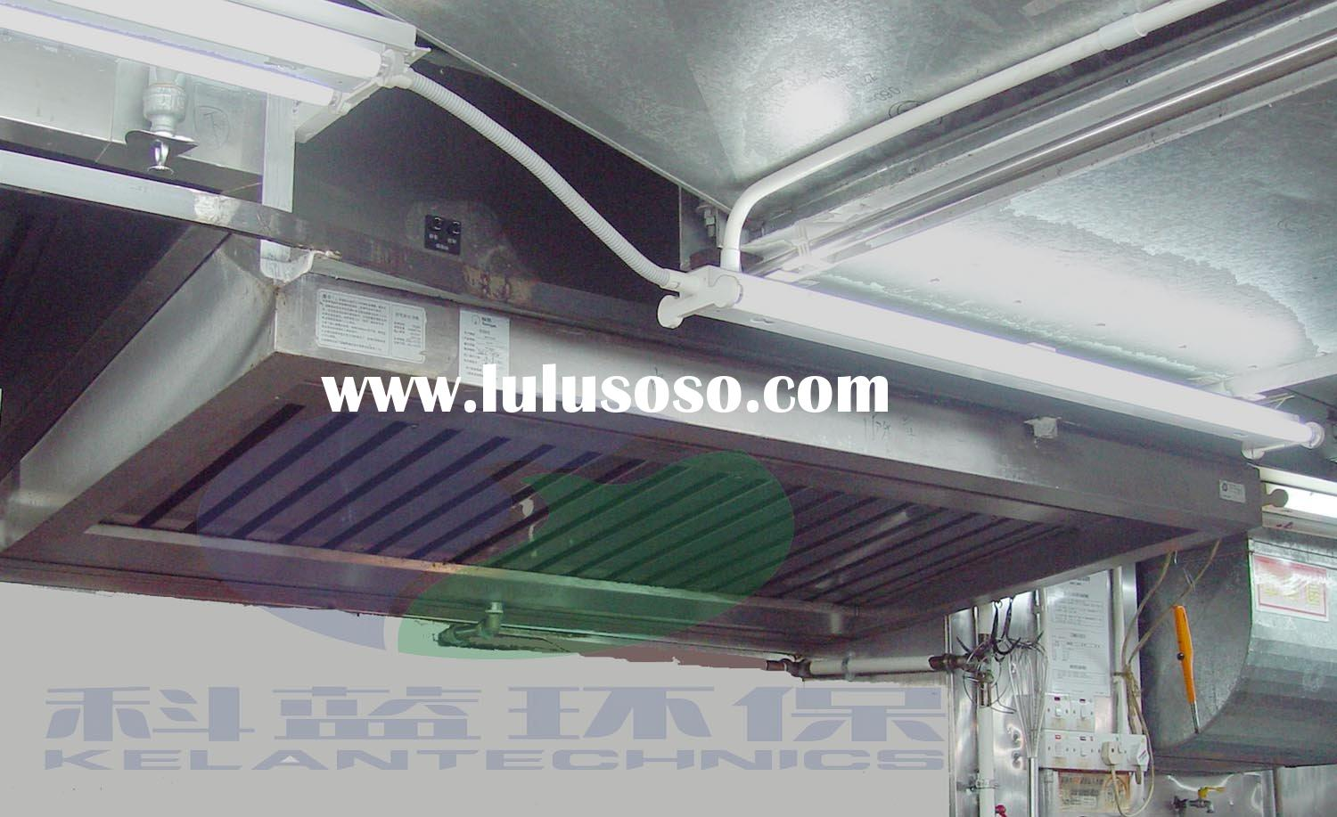 Kitchen exhaust ventilation hood with electrostatic grease for Restaurant exhaust fan motor