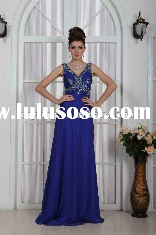 Royal Blue Long Prom dresses Beautiful evening gown Fashion evening dress Hot sale EchoLin 6474
