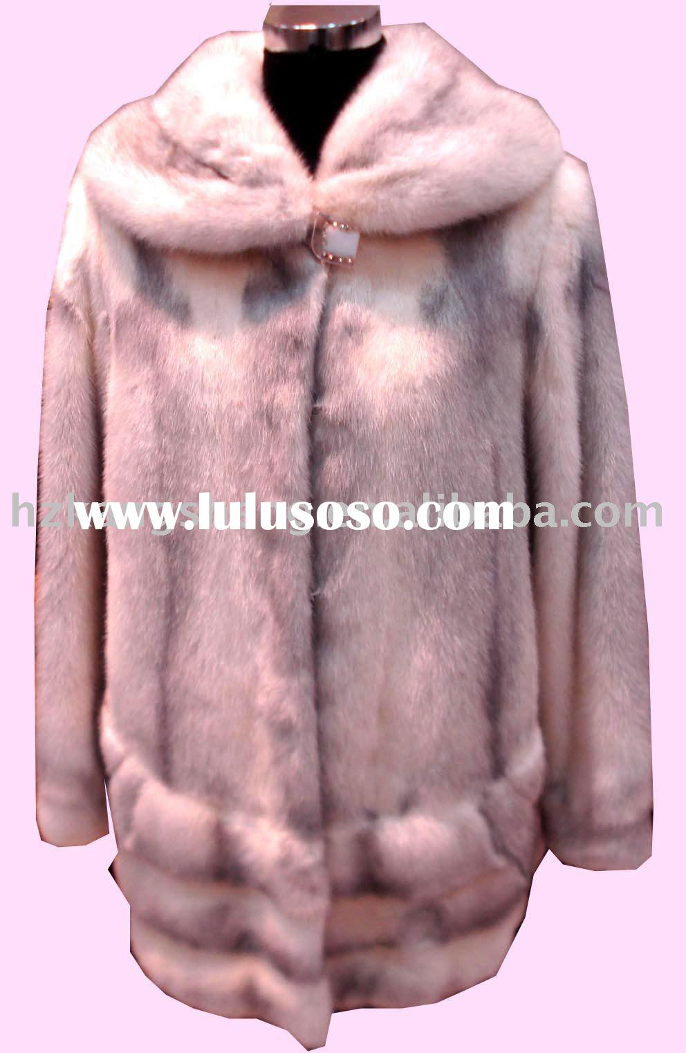 SELL LADIES FASHION DEMARK MINK FUR SKIN GARMENT,DENMARK MINK FUR SKIN JACKET,DENMARK MINK FUR SKIN