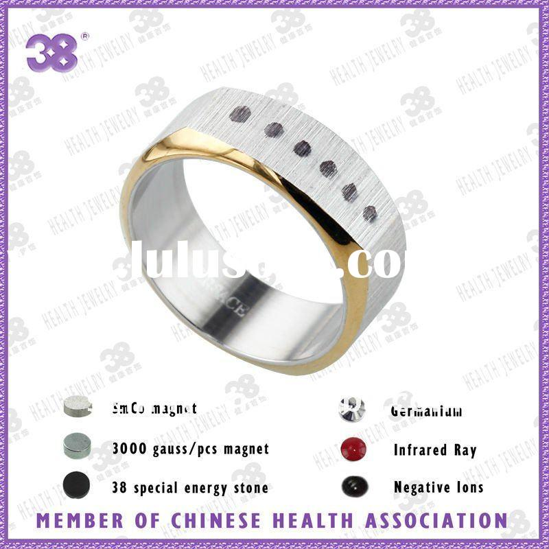 Special design and elegant wedding ring jewelry two color