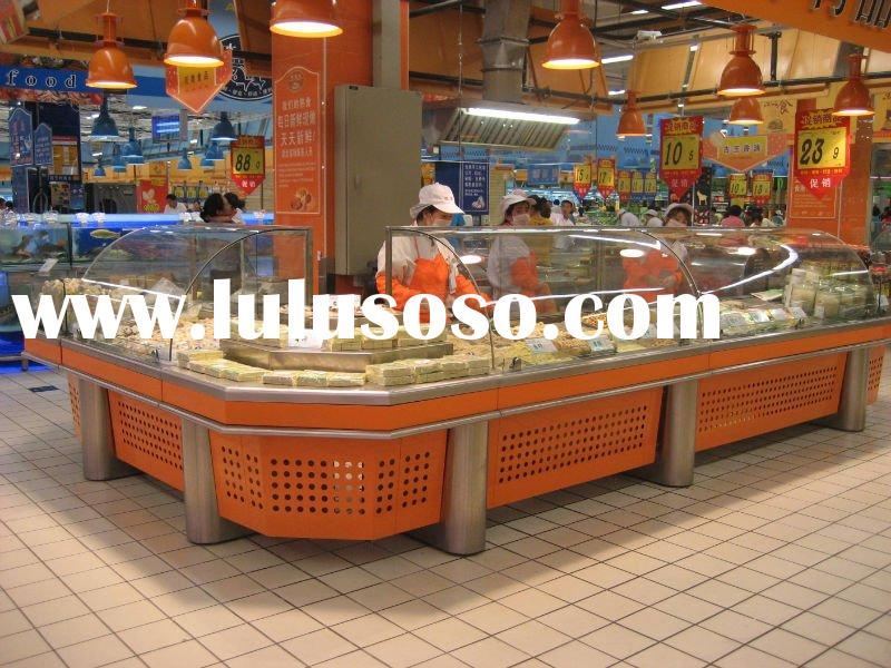 Supermarket Display Table, Deli Display Cabinet