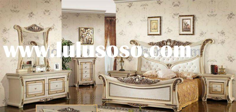 White Antique Furniture Factory Offer Classic bedroom Furniture (JH-W235)