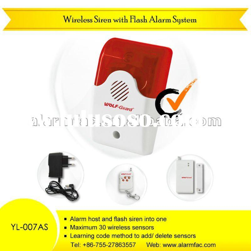 Wireless cheapest chinese security products and have the OEM ODM service spot flash alarm system