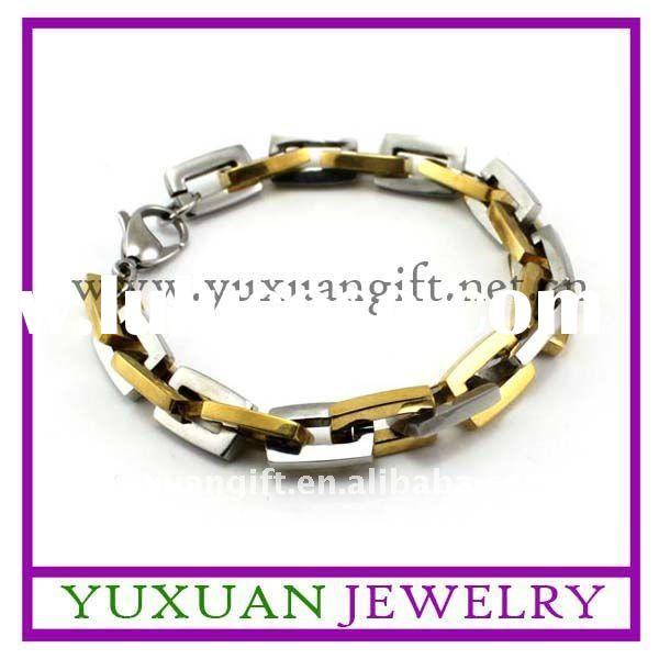 charm gold plated stainless steel bracelet