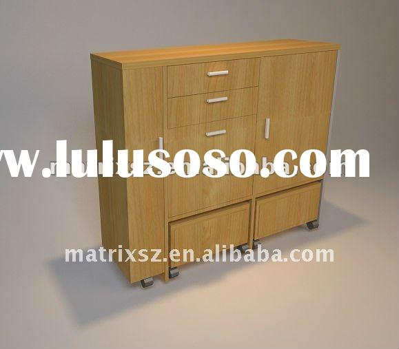 cheap wooden shoe storage cabinet with wheel