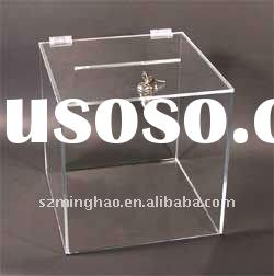 clear acrylic display box with lock