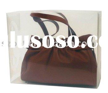 clear plastic handbag storage boxes with customized