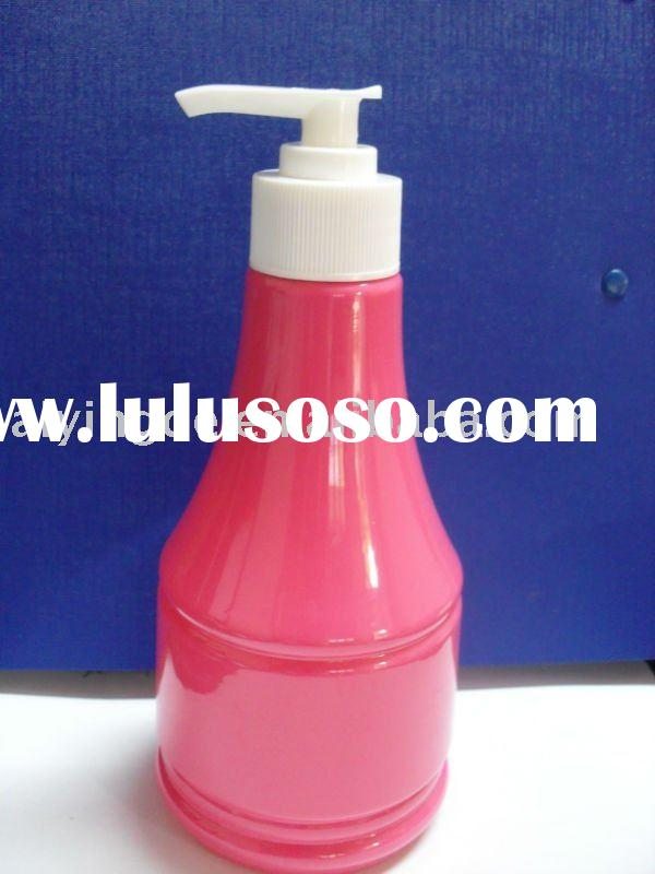 cosmetic plastic shampoo bottle