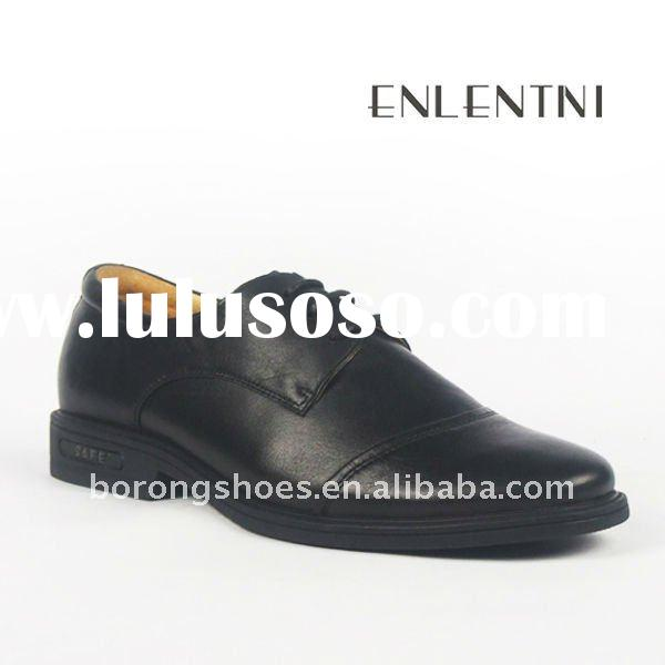 fashion black leather shoes men