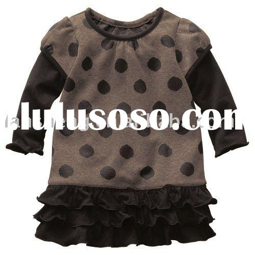 fashion cotton lovely baby girl dresses,baby wear