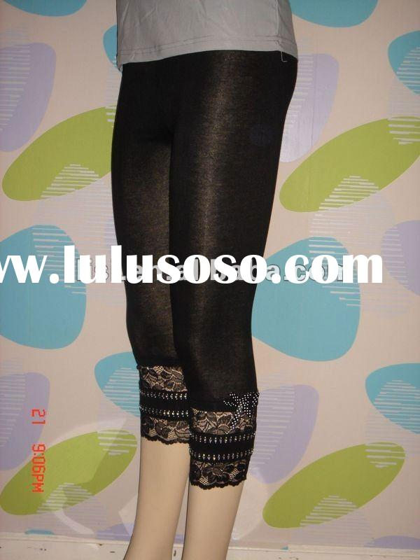 fashion ladies good quality lace leggings