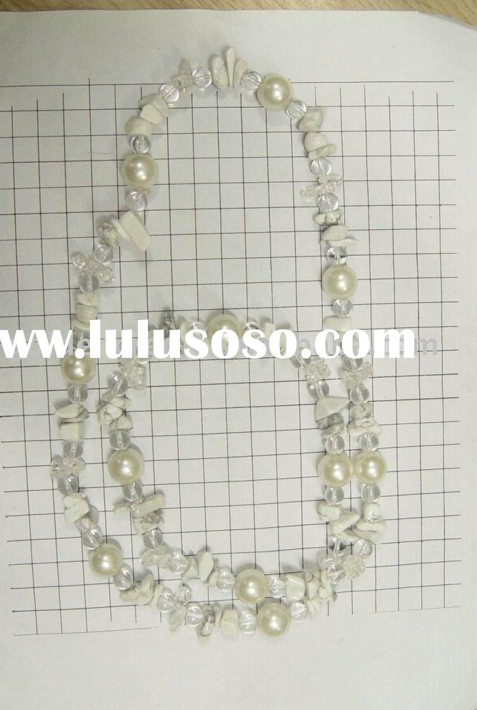 fashion necklace sets /handmade necklace sets/bead with pearl necklace set /the latest style of neck