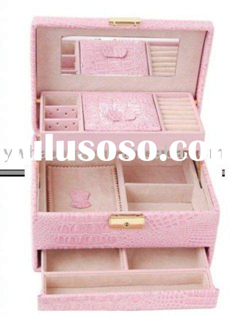 faux leather jewelry box ,portable leather jewelry case ,jewelry display box