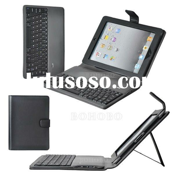 for new ipad Bluetooth keyboard leather case